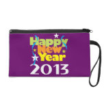 Happy New Year 2013 Wristlet Clutches
