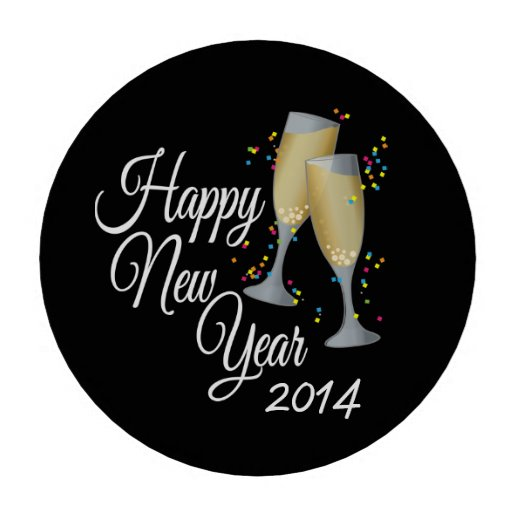 Happy New Year 2014 Black And White Happy new year 2014 champagne