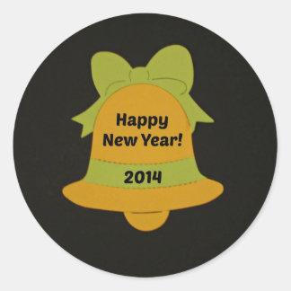 Happy New Year 2014 Classic Round Sticker