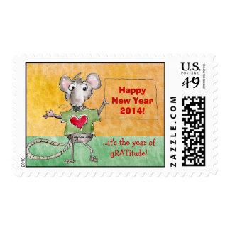 Happy New Year 2014 Custom Postage Stamp