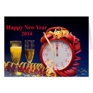 Happy New Year 2014 greeting card