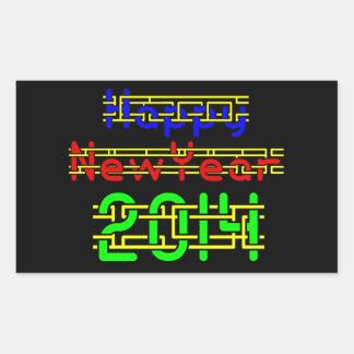 Happy New Year 2014 Rectangular Sticker