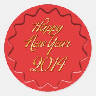 Happy New Year 2014 Wax Seal