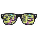 Happy New Year 2015 Neon Paint Splash Sunglasses
