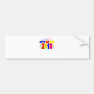 HAPPY NEW YEAR 2015.png Bumper Stickers