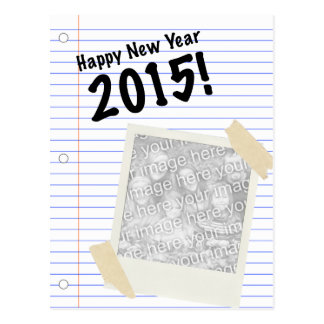 happy new year 2015! POLAROID Postcard