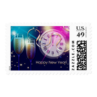 Happy New Year 2015  Postage Stamps
