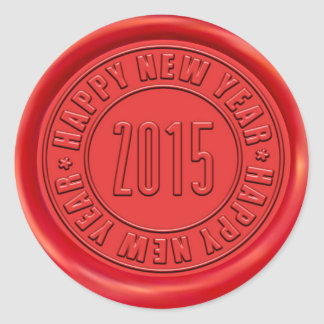 Happy New Year 2015 Red Wax Seal