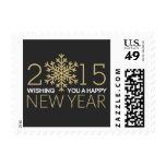 Happy New Year 2015 Snowflake Postage