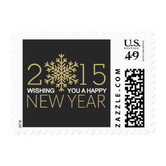 Happy New Year 2015 Snowflake Postage