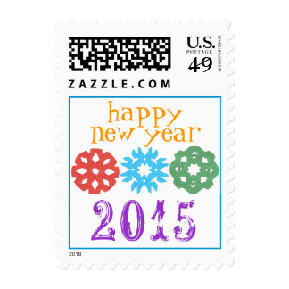 Happy New Year 2015 stamp