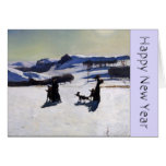 Happy New Year 2015 with an American Painter Greeting Card
