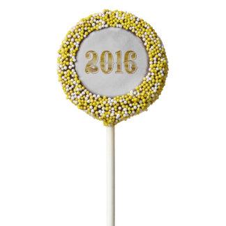 Happy New Year 2016 Anniversary Gold White Cookie