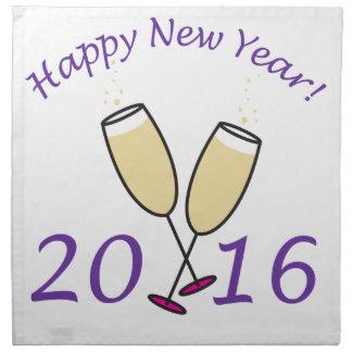 Happy New Year 2016 Champagne Toast Cloth Napkin