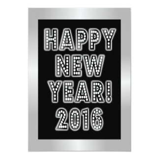 Happy New Year 2016 Party Invitations