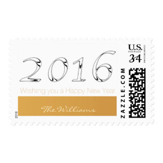 Happy New Year 2016 personalized Greeting Stamp 6