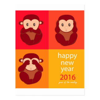Happy New Year 2016 Postcard