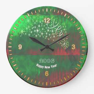 Happy New Year 2016 Round Wall Clock