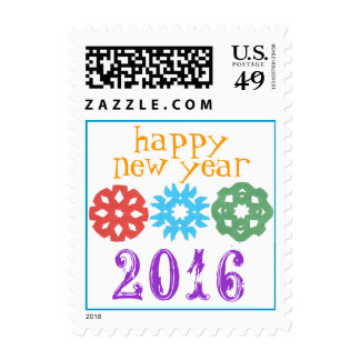 Happy New Year 2016 stamp