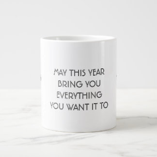 Happy New Year 2016 Wish, Jumbo Mug