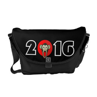Happy New Year 2016 Year of The Monkey Funny Ape Messenger Bag