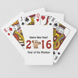 Happy New Year 2016 Year of the Monkey Playing Cards