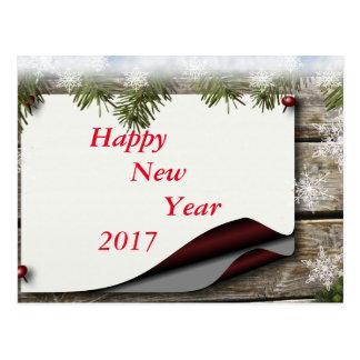 Happy New Year 2017 bulletin message decor Postcard