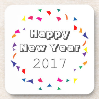 Happy New Year 2017 Drink Coaster
