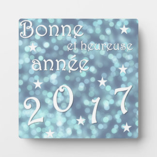 Happy new year 2017, french plaque