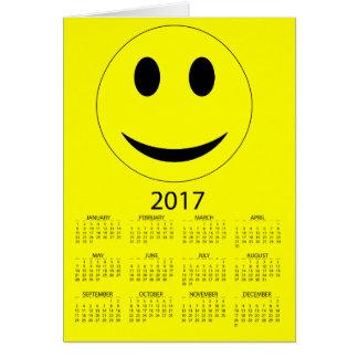 Happy New Year 2017 Funny Smiley Calendar Card