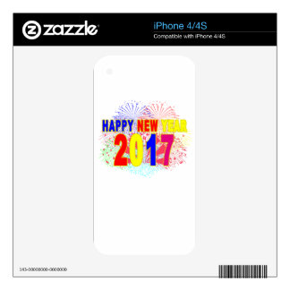 HAPPY NEW YEAR 2017 iPhone 4 DECALS
