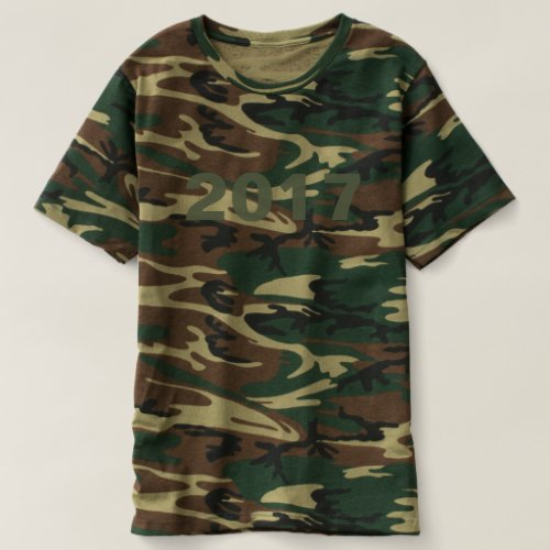 Happy New Year 2017 Numbers Camouflage Shirt