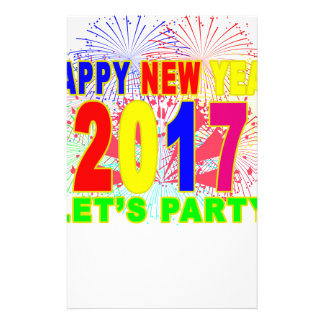 HAPPY NEW YEAR 2017 party Stationery