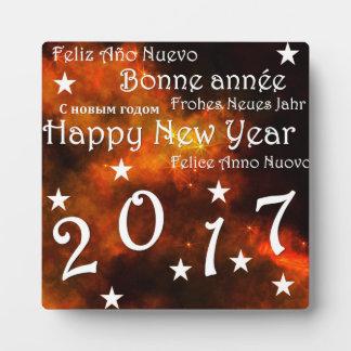 Happy new year 2017 plaque