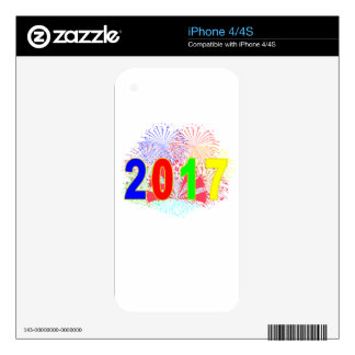 HAPPY NEW YEAR 2017 '. SKIN FOR THE iPhone 4