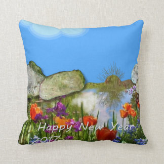 Happy New Year 2017. Throw Pillow