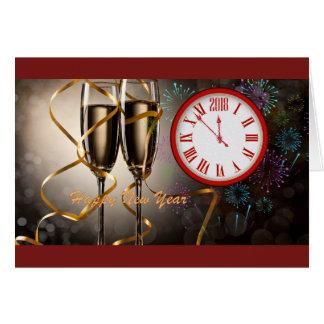 Happy New Year-2018 Card