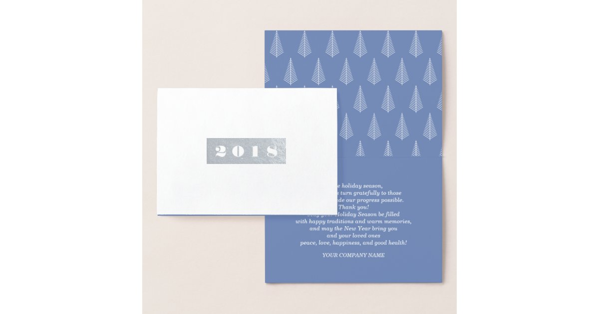 Happy New Year 2018. Custom Corporate Cards | Zazzle.com