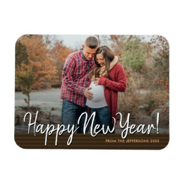 Professional Business Happy New Year 2018 Family Photo Holiday Magnet