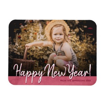 Professional Business Happy New Year 2018 Family Photo Holiday Picture Magnet