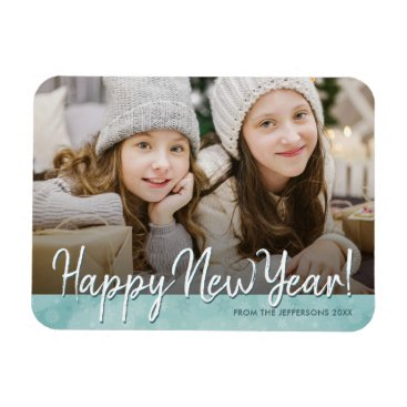 Professional Business Happy New Year 2018 Photo Refrigerator Holiday Magnet