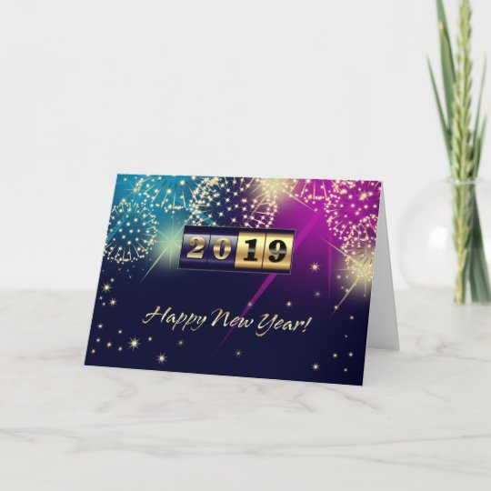 happy new year 2019 custom greeting cards