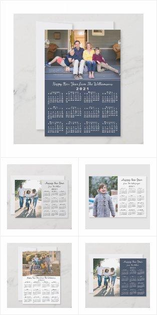 Happy New Year 2021 Calendar Cards