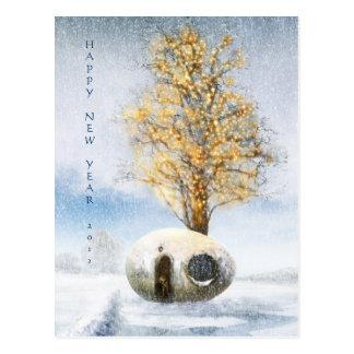 Happy New Year 20xx | Funny Egg House Postcard