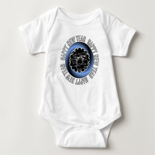Happy New Year 2 Baby Clothes Tee Shirts