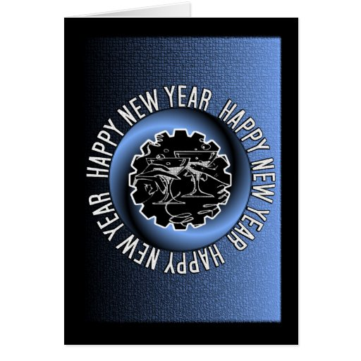 Happy New Year 2 Greeting Card
