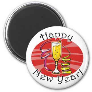 Happy New Year! 2 Inch Round Magnet