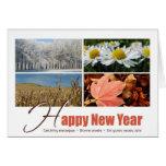 Happy New Year - 4 seasons greeting card Wenskaart