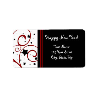 Happy New Year Address Labels
