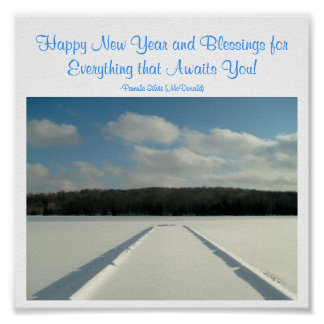 Happy New Year and Blessings...-Poster Poster